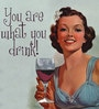 True You Are What You Drink Napkins - Set of 20