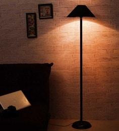 Floor lamps buy designer floor lamps online in india at best black shade metal floor lamp aloadofball Gallery