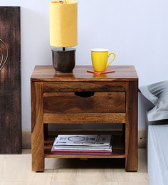 Tulsa Solid Wood Bed Side Table in Provincial Teak Finish ... & Bedside Tables - Buy Bedside Tables Online in India at Best Prices ...