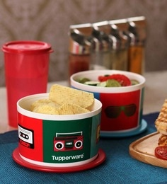 Tupperware Retro One Touch 650 ML Storage Container - Set Of 2