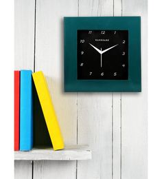 Turquoise MDF 12 X 12 Inch Square Wall Clock