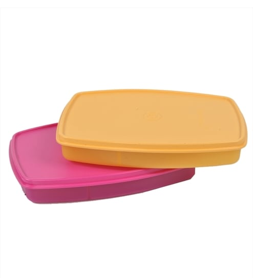 Tupperware Plastic  Classic Slim Lunch Small - Set Of 2 Lunch Boxes