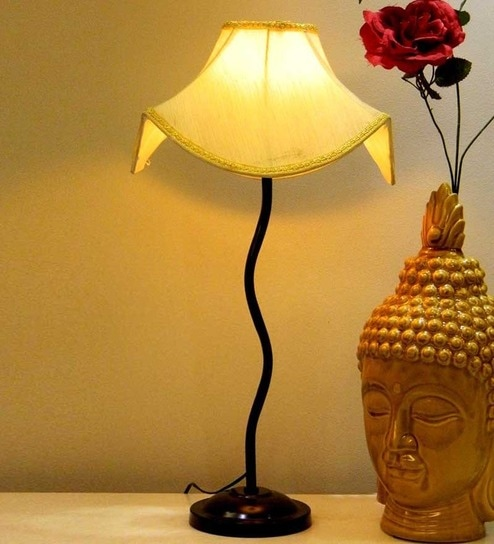 Tu Casa Table Lamp With Designer Yellow Shade By Tu Casa Online