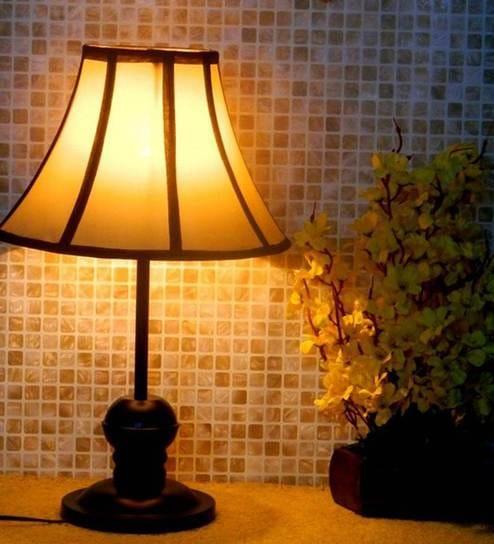 Buy Tucasa Black Multi Coloured Table Lamp Online Contemporary