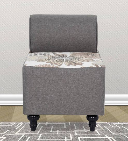 Tucson One Seater Sofa In Grey Colour By Urban Living