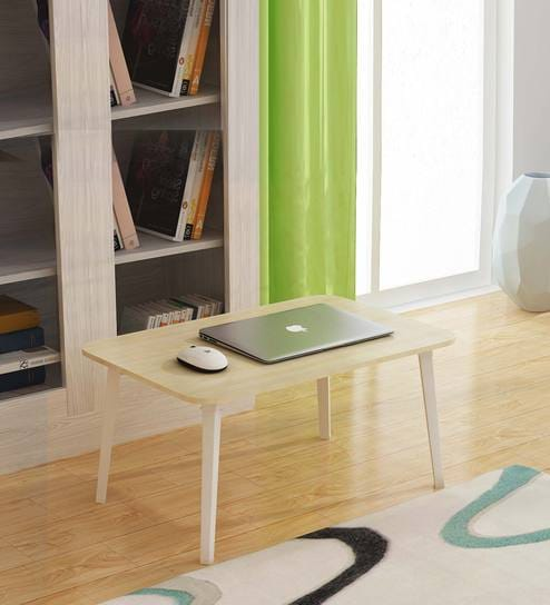 Buy Tulip Study Laptop Table In Oak White Colour By Auspicious - Kids tulip table