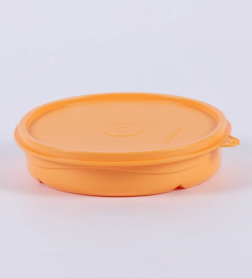 Sectioned Tupperware: Buy Tupperware Orange Plastic 350 ML Divided Dish Lunch