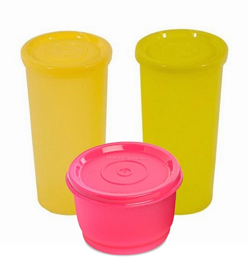 a8805f3d1a4 Buy Tupperware Magenta Snack Cup N Cutie Tumblers Combo- Set of 3 ...