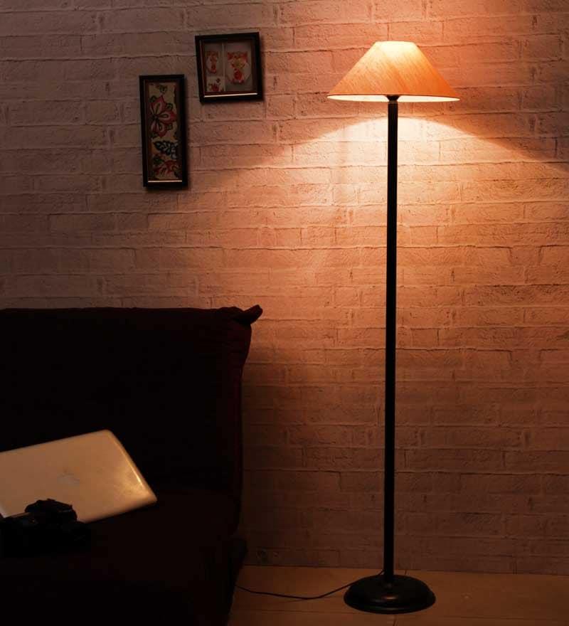 Buy The Light House Khadi Shade Black Metal Floor Lamp