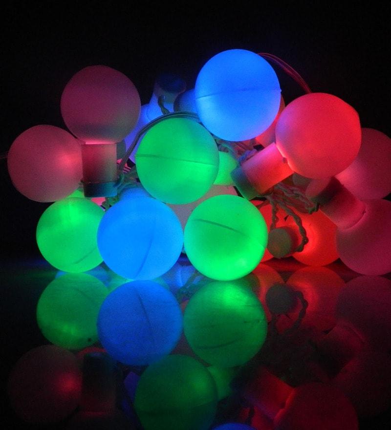Fluorescent Multicolour LED Downward Ball String Light by Tu Casa