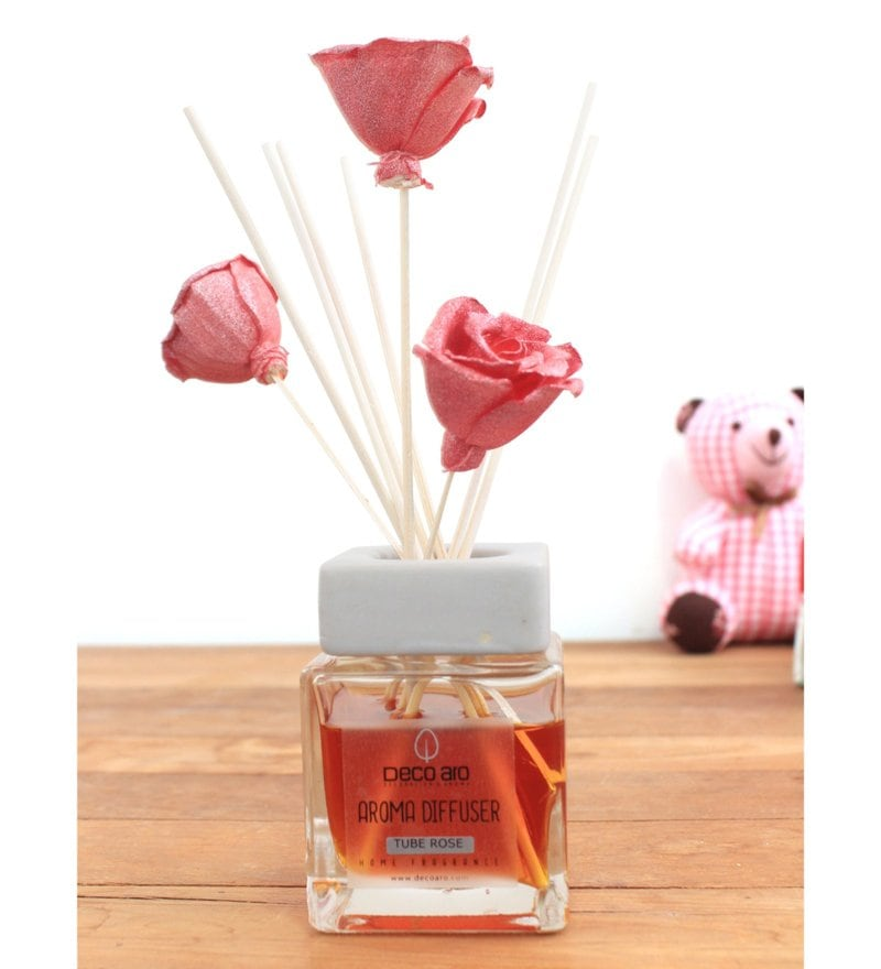 Tuberose with Thai Rose Flower in Reed Sticks Diffuser by Deco Aro