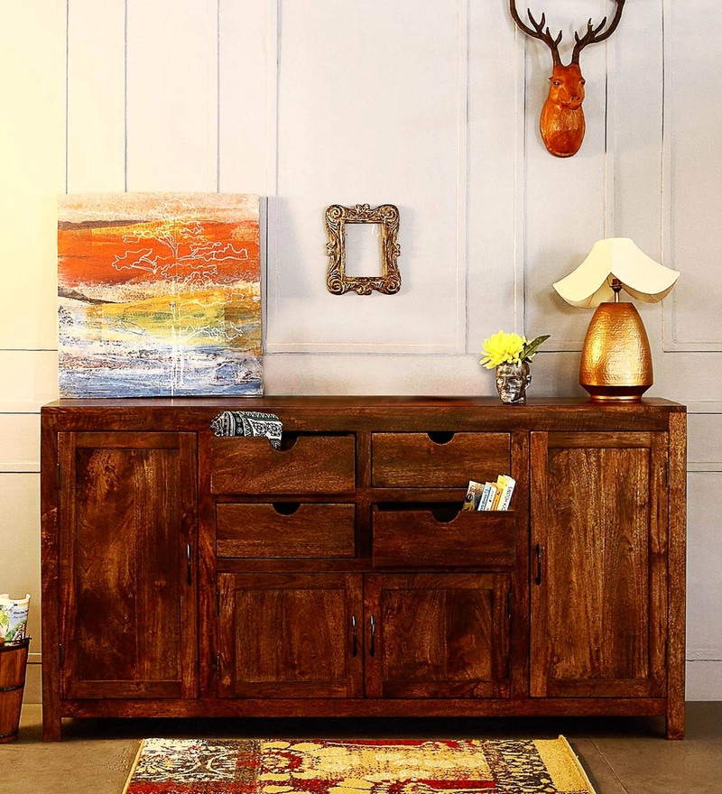Tulsa Multi Storage Sideboard in Provincial Teak Finish by Woodsworth
