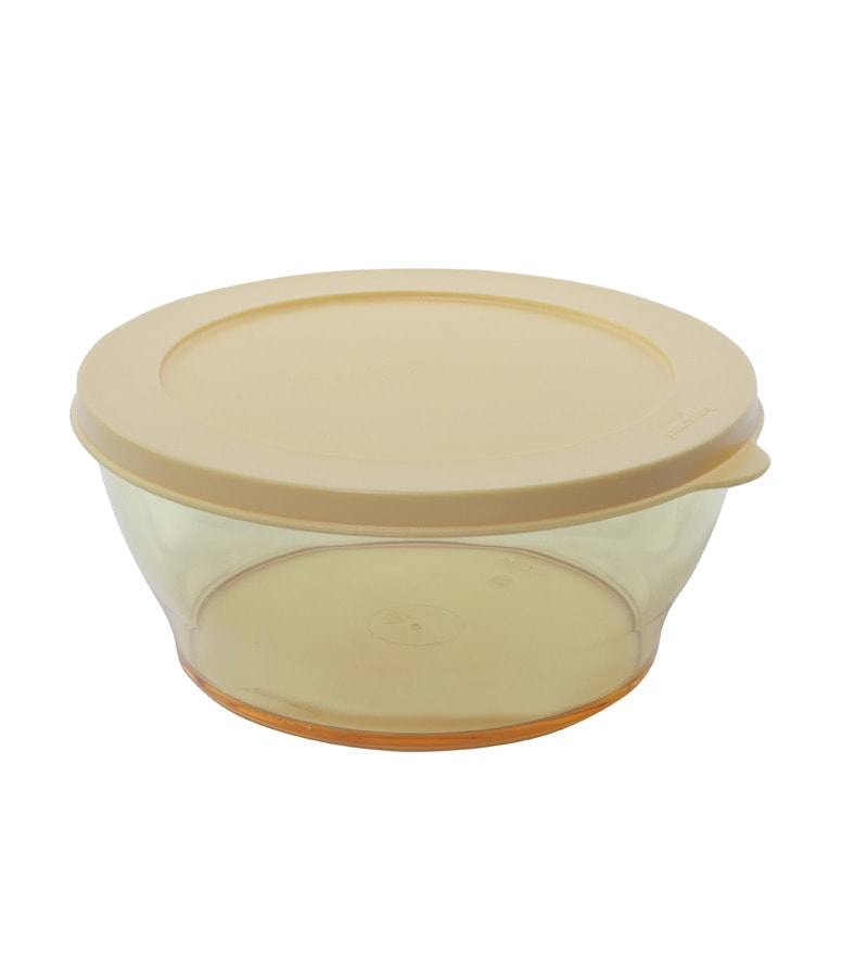 Tupperware Clear Bowl Coloured Large - 1 piece