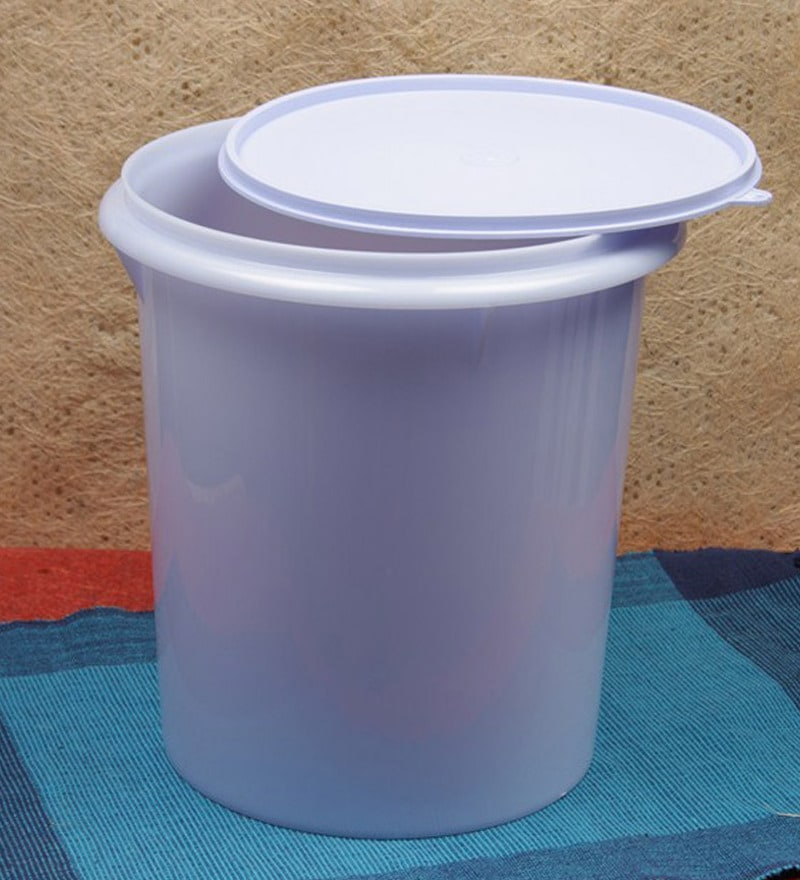 Buy Tupperware Blue Plastic 8 75 L Giant Canister Online