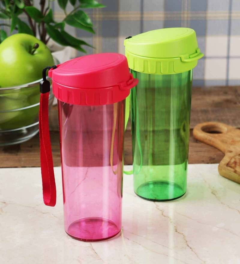 Tupperware Polycarbonate Drinking Flask with strainer - Set of Two