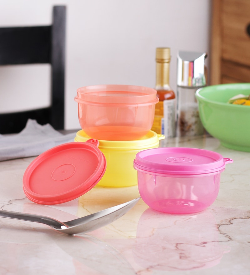 Tupperware Tropical Twins Round - Set Of 4
