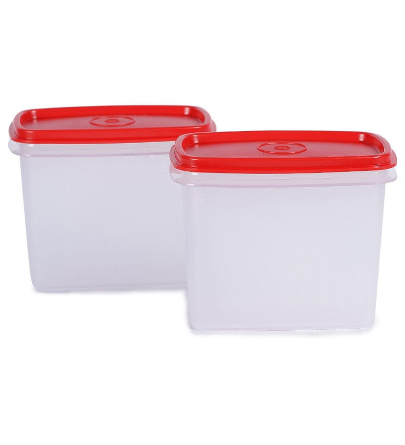 Tupperware Within Reach Red 800 Ml Canister - Set of 4