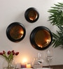 Tu Casa Black Wall Hanging Wax Candle Holder