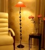 Orange Poly Cotton Floor Lamp by Tu Casa