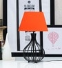 Orange Poly Cotton Oval Lamp Shade by Tu Casa