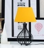 Yellow Poly Cotton Oval Lamp Shade by Tu Casa