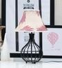 Tu Casa Off-white & Maroon Poly Silk Pyramid Lamp Shade