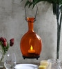Tu Casa Pretty Orange Vase Shaped Candle Holder with Wax Candle