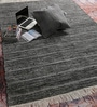 Tulsiram Rugs Black Wool 90 x 63 Inch Geometric Carpet