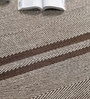 Grey Wool 90 x 63 Inch Geometric Carpet by Tulsiram Rugs