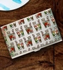 Tungs10 Folk Expression Lotus & Cats Stainless Steel Card Holder