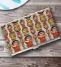 Tungs10 Folk Expression Rural India Stainless Steel Orange Card Holder