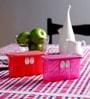 Tupperware Fridge Smart Mini Pink, Red 350 ML (Each) Box with lid - Set of 4