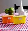 Tupperware Fridge Smart Mini Yellow Orange 350 ML (Each) Box with lid - Set of 2