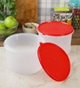 Tupperware Super Storer Red 3500 ML Storage Container with lid - Set of 2