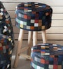 Tuscan Hand-Made Bar Stool in Multicolour Colour by The Rug Republic