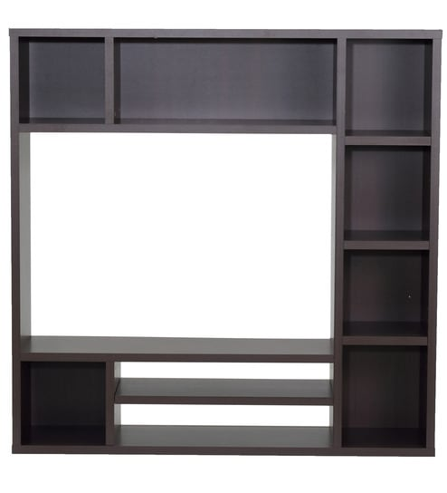 Buy TV Wall Unit in Chocolate Beech Finish by Mintwud Online ...