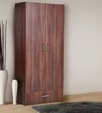 Two Door Wardrobe in Walnut Finish