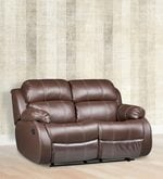 Two Seater Manual Recliner in Brown Colour