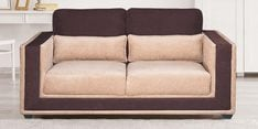 Two Seater Sofa in Beige & Brown Colour