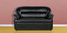 Two Seater Sofa in Black Colour