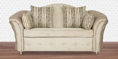Two Seater Sofa in Ivory Grey Colour