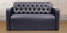 Two Seater Sofa with Tufted Back & Arm Rest in Black Colour