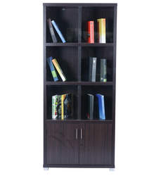 Twin Two Door Book Case In Chocolate Colour By Royal Oak