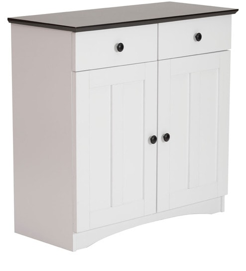 akikio two door kitchen cabinet with two drawers in white and wenge finish by mintwud buy akikio two door kitchen cabinet with two drawers in white and      rh   pepperfry com