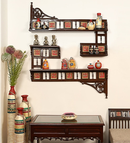 Buy Two Wall Shelves Set by ExclusiveLane Online - Indian Ethnic ...