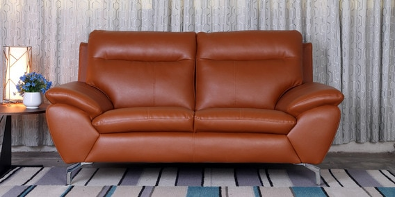 60a9dda27d Buy Two Seater Sofa In Tan Colour By Minthomez Online - Two Seater ...