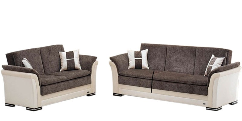 Buy Two Tone Sofa Set (3+2) by Planet Decor Online - Sofa