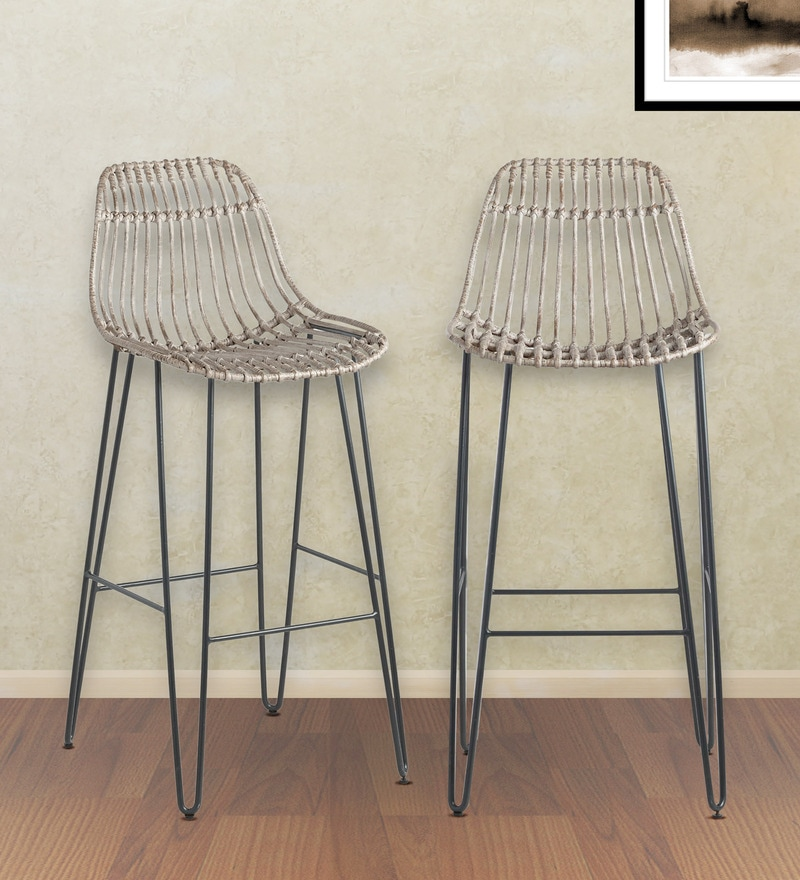 Superb Flynn Hairpin Bar Stools Set Of 2 In Grey By Twigs Direct Pdpeps Interior Chair Design Pdpepsorg