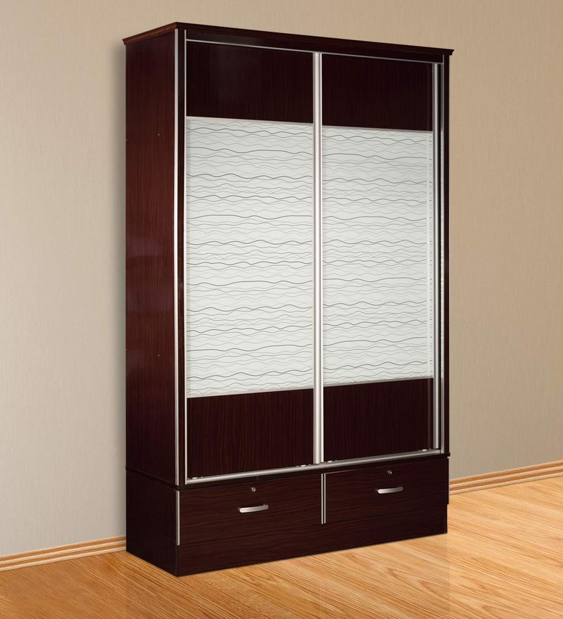 Wardrobe with Sliding Doors in Wenge Finish by Essance
