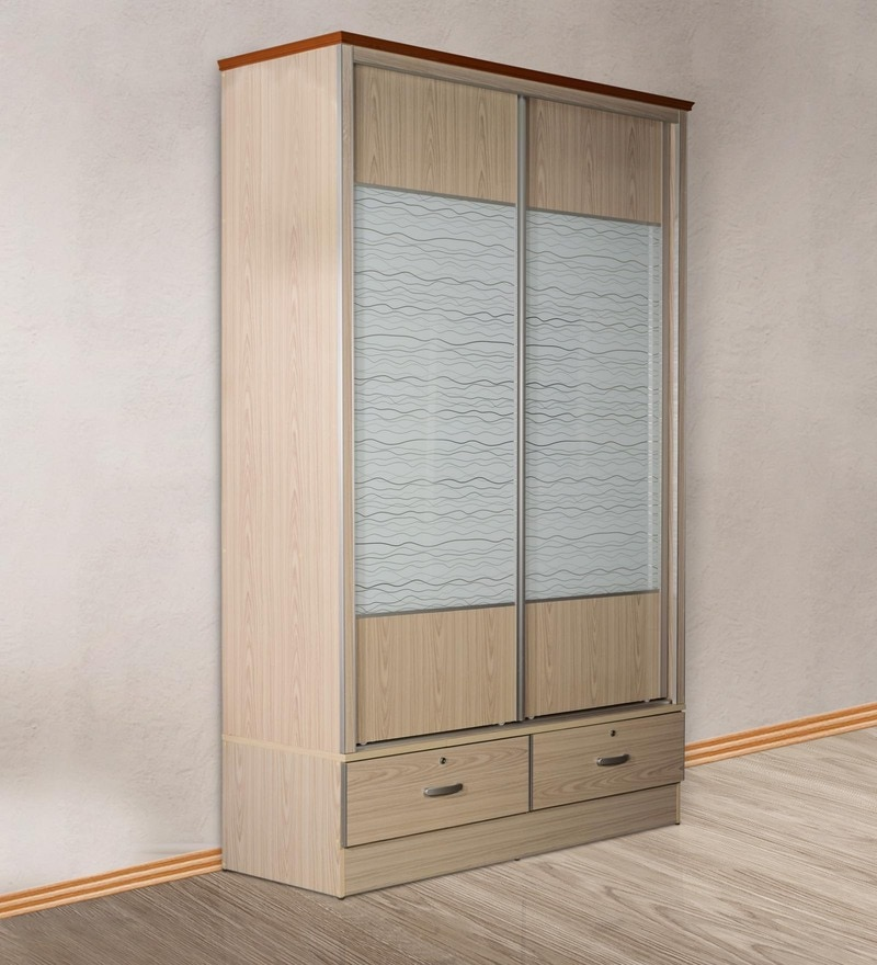 Wardrobe with Sliding Doors in White Finish by Essance